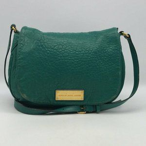 Marc By Marc Jacobs Green Leather Crossbody Bag
